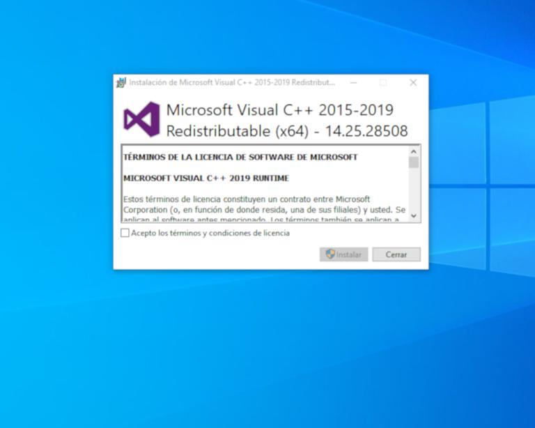 2. Instalación complementos  Visual C++